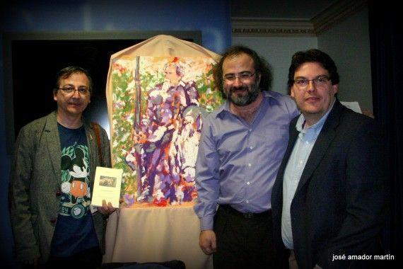 4 El pintor Miguel Elías, Alencart y Boris Rozas (foto de José Amador Martín)