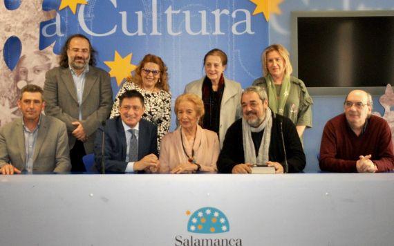 3 Miembros del jurado, Alencart, Pérez Castrillo, Ruiz Barrionuevo, Salas, Barrera, Fonseca, Fernández Labrador, Aganzo y Muñoz Quirós (foto de José Amador Martín)