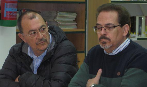 4 José Antonio Santano y Santiago Redondo Vega, en el Instituto Fray Luis de León (Salamanca, foto de J. Alencar)