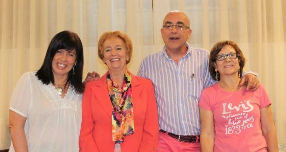 6 Annie Altamirano, Pilar Fernández Labrador, Carlos Blanco y Natividad Gómez Bautista, en el Aula Dorado Montero (SonLetras)