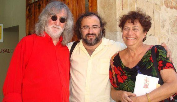 7 Álvaro Alves de Faria, A. P. Alencart y Ana María Machado en Salamanca (2010, foto de Jacqueline Alencar)