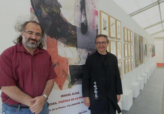 10 El poeta Alfredo Pérez Alencart y el pintor Miguel Elías (foto de Jacqueline Alencar)