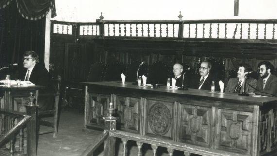 3 Cobo Borda, Ortega Carmona, Baquero, Agustín de Vicente y Alencart (foto de Jacqueline Alencar)