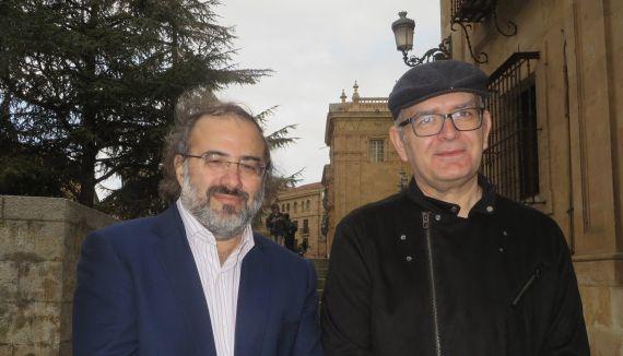 3 Pérez Alencart y Martín Cobano, director y secretario general de Tiberíades (foto de J. A.)