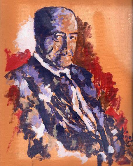 1 Retrato de Gastón Baquero, obra de Miguel Elías