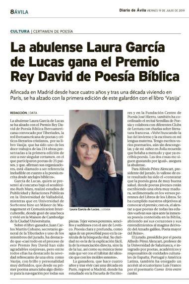 12 Premio Rey David de Poesía Bíblica Iberoamericana (La Razón)