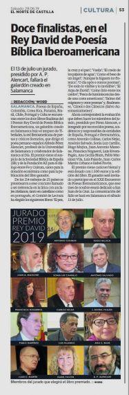 12A Finalistas del Premio Rey David (El Norte de Castilla)