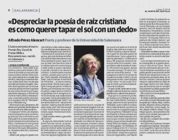 12B Entrevista sobre el Premio Rey David (El norte de Castilla)