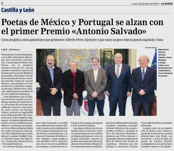 13 Premio António Salvado-Ciudad de Castelo Branco (La Razón)