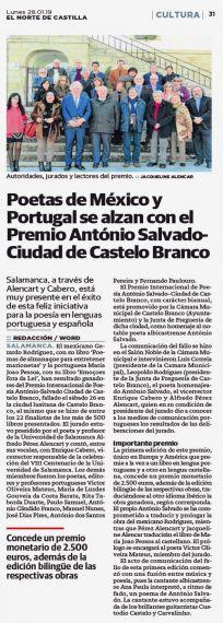 14 Premio António Salvado-Ciudad de Castelo Branco (El Norte de Castilla)