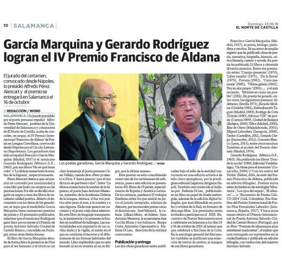 17 Premio Aldana. (El Norte de Castilla)
