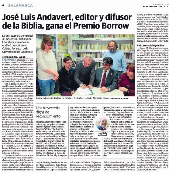 27 Premio Borrow (Norte de Castilla