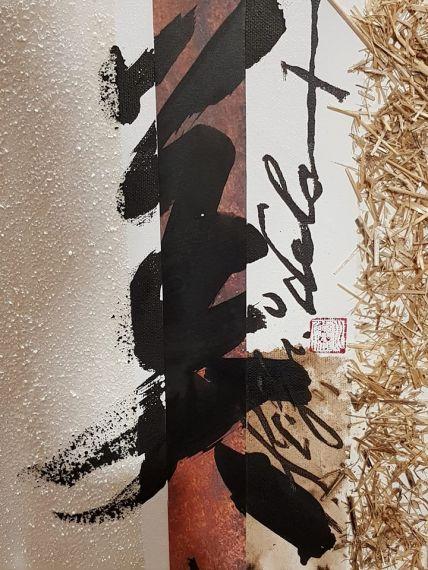 6 Pintura de Miguel Elías, de la serie que está haciendo, dedicada a San Juan