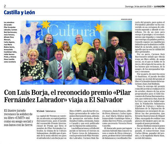 8 Premio Internacional de Poesía Pilar Fernández Labrador (La Razón)