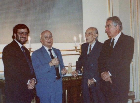 3 Alencart, Rojas, Westphalen y Mutis (Palacio Real de Madrid, 1991, foto de Jacqueline Alencar)